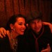 Brigitte Zarie with Drummer Sean Pelton , Getting ready to go on at Smalls Jazz Club New York City