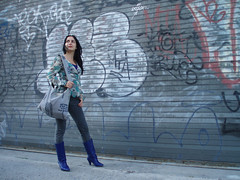 On the way to Monkey Town (experience_collector) Tags: newyorkcity brooklyn williamsburg blueboots cheapmondayjeans lottajansdotterbag urbanoutfittersboots annasuishirt