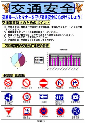 警視庁の交通安全チラシ