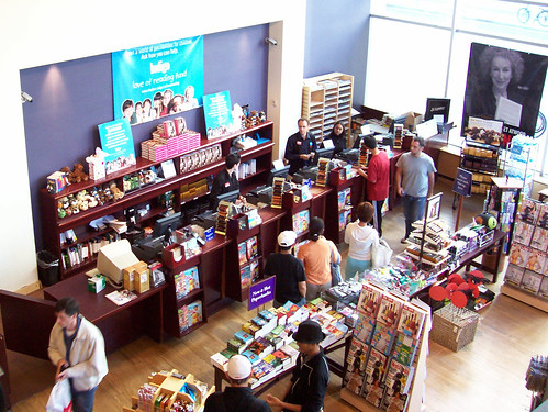 Book buyers in Chapters near Queen Street