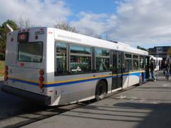 A new, clean diesel NovaBus.