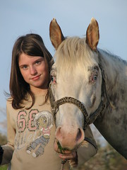 Eva & Red King Bar (forestsoul) Tags: portrait horses people horse pets girl animals kids farm slovenia cowgirl equestrian stallion equine loh horsesrule llovemypic forestsoul