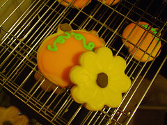 fall cookies (nikkicookiebaker) Tags: cookies pumpkin sunflower decorated