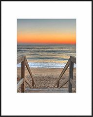 Stairway to .. (avirus) Tags: sea sky color beach sunrise sand northcarolina stairway frame outerbanks obx