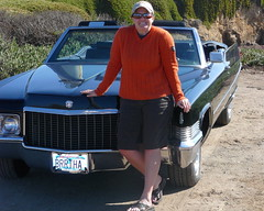 Sunny Day for A Cruise (brrtha) Tags: california black highwayone cadillac highway1 1979 pigeonpoint bertha brrtha 1970cadillac