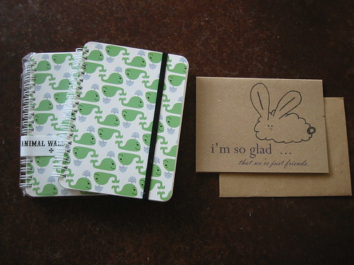 Notebooks from Rock Scissor Paper, cards from biggerKrissy
