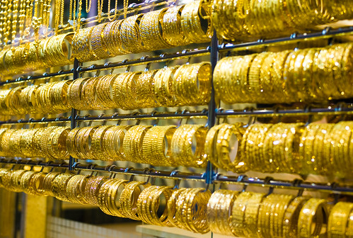 Bracelets at the Dubai gold market