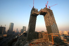 CCTV Tower (China Chas) Tags: china architecture construction beijing engineering cctv remkoolhaas cbd  oma  1022mm 2007 arup
