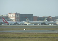 Airbus S.A.S. Flight Line (Foreground; West).