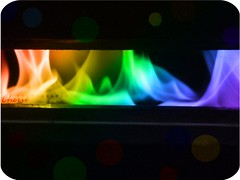 \/   (Cherie) Tags: hot color fire rainbow flames cherie nar coloful noonah cheriee