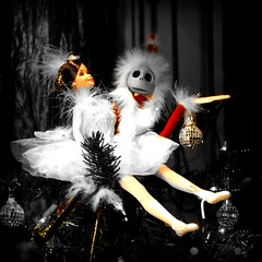 she dreamed what santa would bring (Super G) Tags: santa christmas xmas holiday 6ws sixwordstory santaclaus merry barbi burton nightmarebeforechristmas 2007 mywinners storefrontdisplaywindow retaildisplaysyougottaloveem