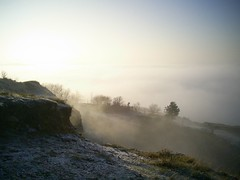 Above the fog 032 (James Trickey) Tags: above cold fog amazing view hill freezing sunny frosty gloucestershire icy brilliant cheltenham wintry leckhampton