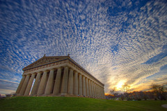 Parthenon (cwage) Tags: sunset nashville parthenon exif:iso_speed=100 exif:aperture=f35 camera:model=canoneos20d exif:focal_length=10mm meta:exif=1248333981