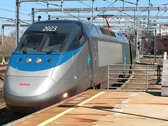 acela approaching (rhubarbcrumble) Tags: train providence amtrak pvd nec acela acelaexpress northeastcorridor amtk trainset18 amtk2023 amtrakacelaexpress