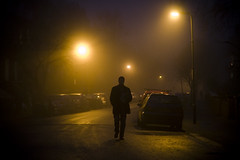 misty sunday (flamed) Tags: uk winter light mist cold london silhouette fog mystery moody streetlamps shafts shady atmospheric enigmatic