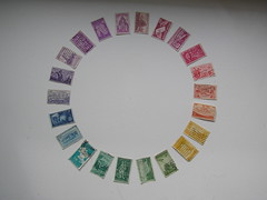 stamp wheel (mimulus7) Tags: spectrum stamps colorwheel
