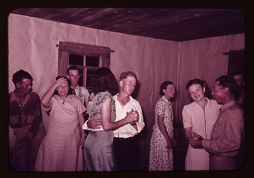 Scene at square dance in rural home in McIntosh County, Oklahoma (LOC) by The Library of Congress.