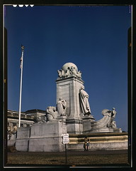 Columbus Fountain and statue in front of Union Station, Washington, D.C.  (LOC)