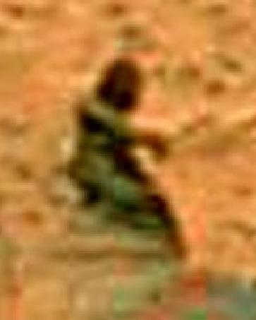 Ampliación del marciano fotografiado por la sonda Spirit en Marte