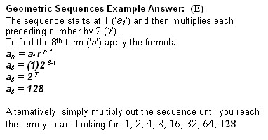 Sat Geometric Sequences Answer Photo
