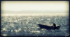 The Sea is Waiting for Me (Kuzeytac) Tags: life travel blue sea sky sun color colour nature glitter turkey geotagged boat fishing trkiye turkiye scene lonely geotag deniz mavi leyla hayat assos lsi hzn doa tabiat anakkale ayvack hpphotosmartm425 balktutmak beautifulworldchallenges kuzeytac copyrightedallrightsreserved aqualityonlyclub