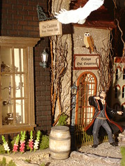 Diagon Alley (hidden) from the Leaky Cauldron Dollhouse: Harry Potter (Jack English) Tags: english halloween make jack miniature alley mary harry potter scene dont cauldron dollhouse leaky diagon ciccolella