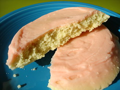 Pink Frosted Cookie