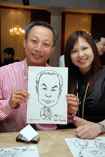 caricature live sketching Singtel Radiance Communications Avaya 13