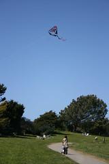 Kites at Cesar Chavez Park (hjus) Tags: park grass ueno tricycle kites jonah harper kiteflying akemi grassyknoll pirateship shelburne berkeleymarina pchan berkeleyca cesarchavezpark okasan tryke ketter  ochan hjus