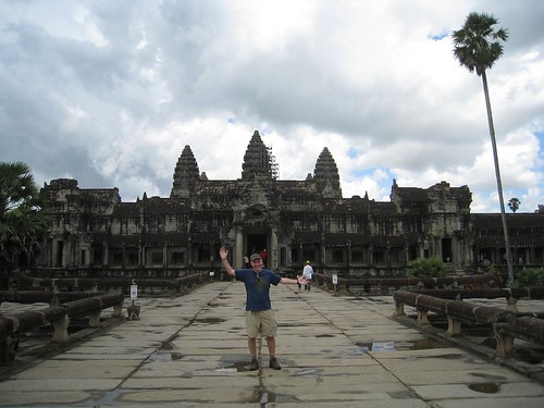 Requisite shot in front of Angkor Wat (hey that rhymes!)
