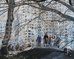 early spring day-1 (albyn.davis) Tags: nyc newyorkcity centralpark people scene street buildings manipulation manhattan usa spring