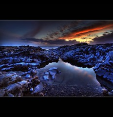 """"""" LAST MINUTE """" (Wiffsmiff23) Tags: sunset pool clouds reflections rocks waves awesome smooth silk pebbles flipflops prehistoric soe rugged ogmore ogwr skipped"""