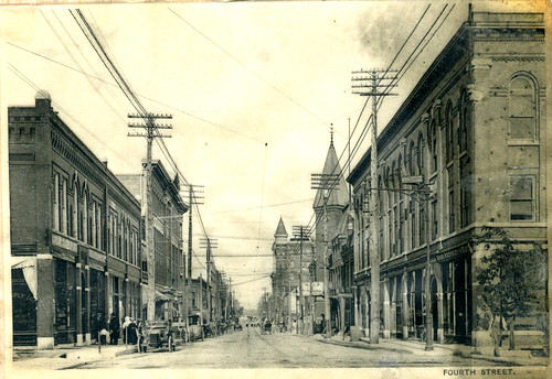 A view of Fourth Street looking east - sometime before 1906.