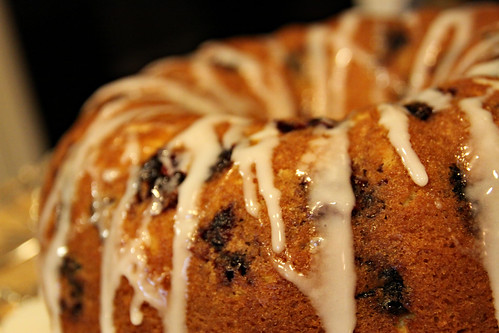 glazed blackberry lemon cake