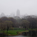 Foggy skyline seen from Central Park