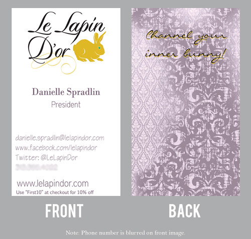 Le Lapin D'or Business Card