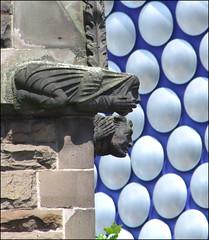 gargoyles (Simon_K) Tags: urban birmingham shoppingcentre dimple selfridges departmentstore curve chickenpox westmidlands warwickshire bullring urbanrenewal brum birminghamuk hubcaps futuresystems blueblancmange
