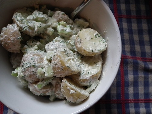 Cashew mayo potato salad