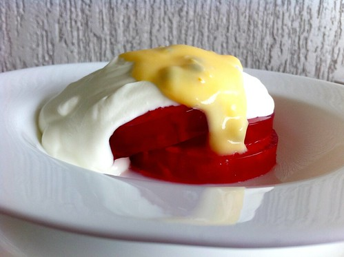 Pineapple in Jelly with Greek Yogurt & Passionfruit Curd