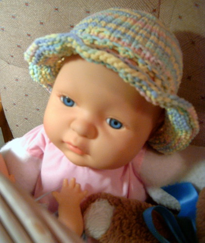 Lullaby Hat on Doll