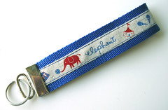 Blue Elephant Key Fob