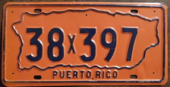 PUERTO RICO 1970's license plate (woody1778a) Tags: world auto signs canada cars car sign vintage edmonton photos puertorico tag woody plate tags licenseplate collection number photographs license caribbean plates foreign oddball numberplate licenseplates numberplates licenses rarity cartag carplate carplates autotags cartags autotag foreigns pl8s worldplates worldplate foreignplates platetag