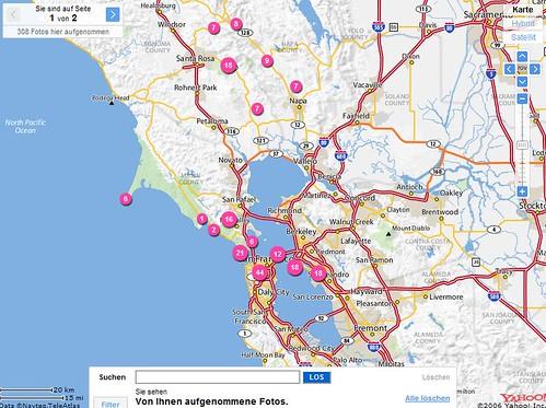 Flickr Karte für Stadtrallye 2007 in San Francisco und Umgebung