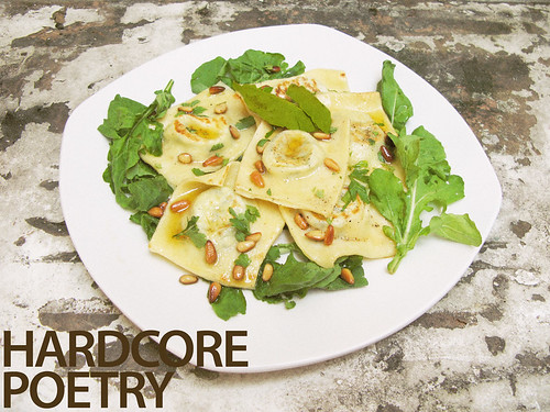 Kesong Puti-Spinach Ravioli with Bay-Brown Butter Sauce (with title)