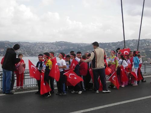 écoliers au marathon d'Istanbul en 2007