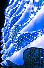 New Car Park - Cardiff Bay (wentloog) Tags: blue art southwales wales architecture night docks canon eos interestingness cardiff explore publicart carpark cardiffbay soe flickrsbest 400d canoneos400d wentloog diamondclassphotographer flickrdiamond excellentphotographerawards stevegarrington