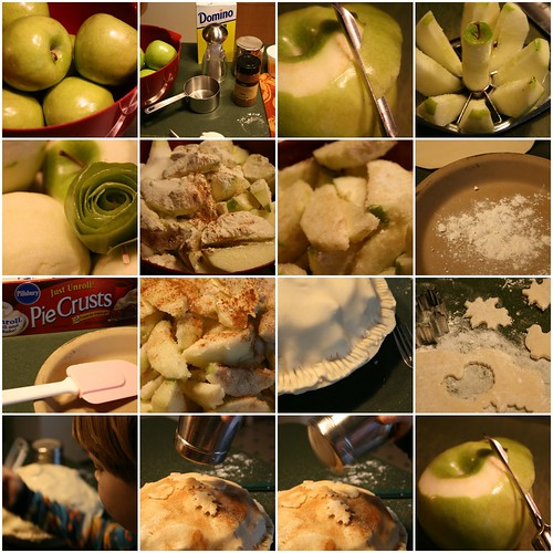 """This is my all-time favorite ways to make apple pie!! I found this upside-down apple pecan pie recipe in a little Pillsbury """"pie"""" cookbook years ago, it's listed on their site as a """"Bake Off"""" WINNER in ! It's a self-glazing apple pie that tastes as wonderful as it looks!!! It'sTotal Time: 15 mins."""