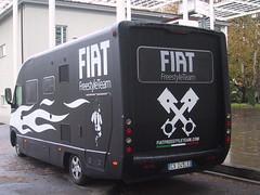 Il camper del Fiat Freestyle Team al Campus di Savona