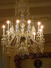 Crystal Chandelier (White House) (catface3) Tags: people glass lights washingtondc dc tour crystal antique whitehouse chandelier holidaytour catface3