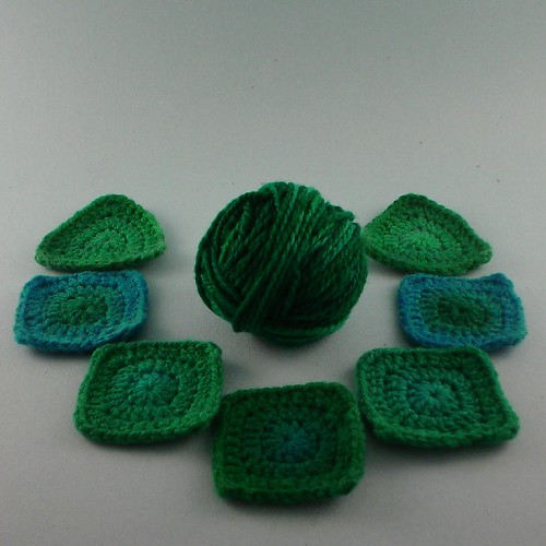 Four Corners Headband (blues and greens)